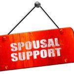 spousal support, 3D rendering, red grunge vintage sign