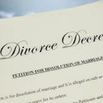 closeup of  legal divorce decree papers